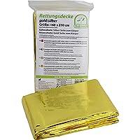 3 Piezas Rescate Medi-Inn Rettungsfolie Oro/Plata Tamaño: 160cm
