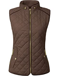 549dffb6e8 Cremieux Full-Zip Quilted Vest, Size-M at Amazon Women's Coats Shop