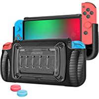 SZMDLX Dockable Case for Nintendo Switch, TPU Grip Protective Cover Case for Nintendo Switch with Adjustable Stand, 7…