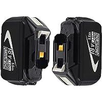 Venghts 2 stuks BL1860B vervanging voor Makita BL1860B 18 V 5,5 Ah batterij-led-indicator 18 volt LXT-400 accu…