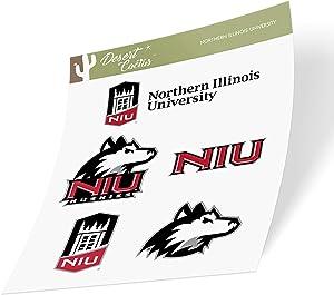 Northern Illinois University NIU Huskies NCAA Sticker Vinyl Decal Laptop Water Bottle Car Scrapbook (Type 2 Sheet)