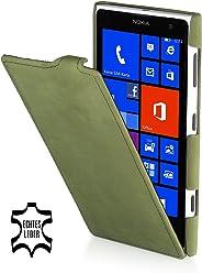 StilGut, UltraSlim, pochette exclusive de cuir véritable pour le Nokia Lumia 1020, old style vert herbe