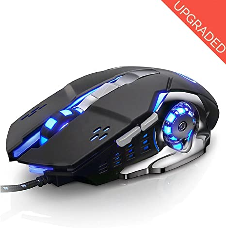 Mechanical Colorful Gaming Mouse Wired Optical Mouse Metal Bottom Plate 1200//1600//2400//3200//5500Dpi Suitable for Office