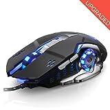 Gaming Maus Professional für Pro Gamer USB Wired 3200 dpi 6 programmierbaren Tasten mit 4 einstellbare DPI Gaming Maus für Pro Spiel Notebook PC Laptop Computer