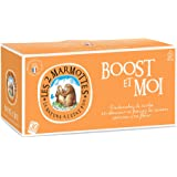 Les 2 Marmottes Infusion Boost&Moi - Vitalisant - Hibiscus Guarana Gingembre - Made In France - 55g