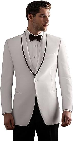 Fenghuavip Elegant White Groom Wedding Tuxedos Suits 2 Pieces Amazon Ca Clothing Accessories