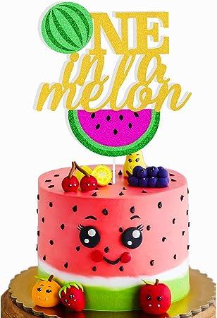 Watermelon birthday First birthday party Watermelon cake topper One in a melon birthday One in a melon cake topper