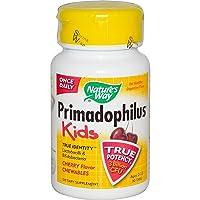 Nature's Way Primadophilus Kids 3 Billion CFU, 30 Cherry Flavored Chews (Ages 2-...