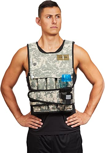 CROSS101 Weighted Vest 20lbs – 80lbs with Shoulder Pads Option