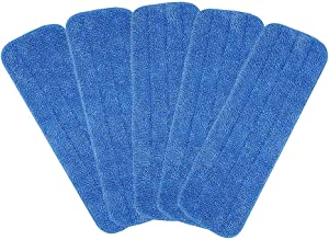 "Microfiber Spray Mop Replacement Heads for Wet/Dry Mops Floor Cleaning Pads Fit All 15"" Sprays Mops Compatible with Bona Floor Care System (5-Pack )"