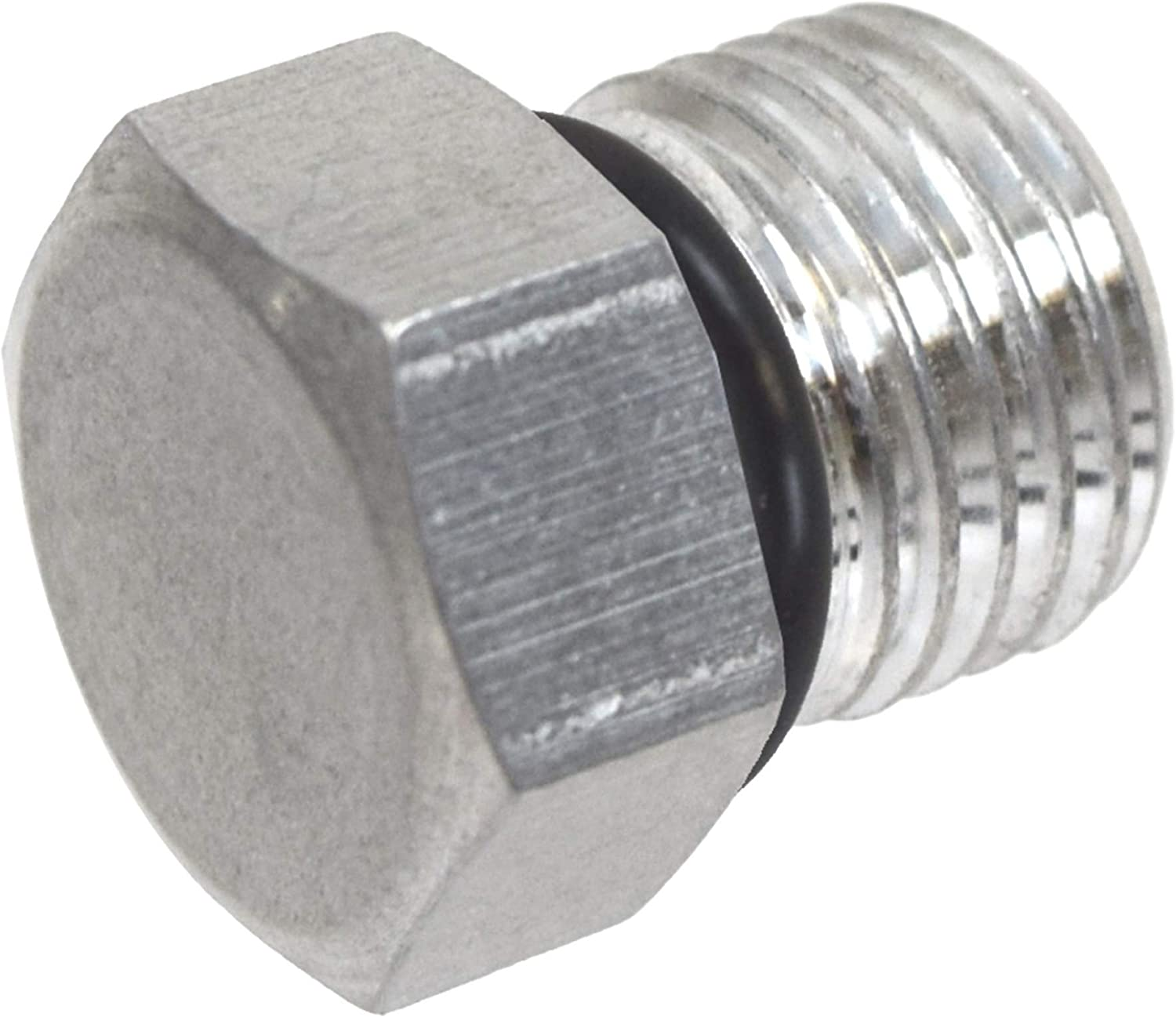 6AN ORB Straight Thread Plug Male Nut Cap Fitting Aluminum AN814-06A ICT Billet