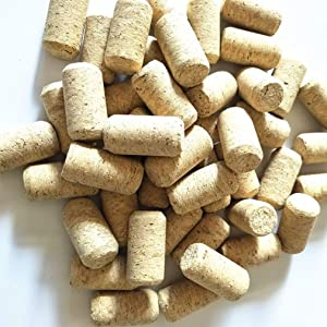 """Enkrio #7 Natural Wine Corks Straight Cork Wine Stoppers for Bottling of Wines 1-3/5"""" x 4/5"""" - Pack of 50"""