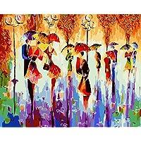 DAchun11 - Dipinto Digitale a Olio con Molte Ballerine astratte per Adulti e Bambini, Senza Cornice, 40 x 50 cm