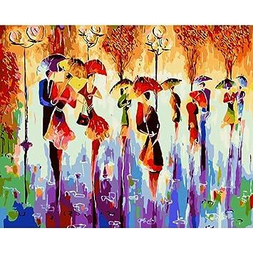 Malen Nach Zahlen Abstrakte Kunst Viele Tanzer Bild Zum