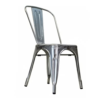 Charmant Design Tree Home Tolix Side Chair In Gun Metal Galvanized Steel