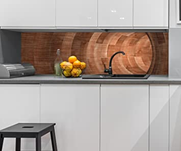 Cocina Pared Trasera Túnel de Madera Design M0773 210 x 60 cm (W x H