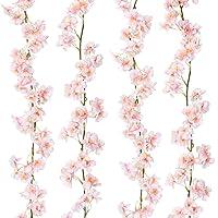 Sunm Boutique Artificial Cherry Blossom Garland Hanging Vine Silk Garland Wedding...