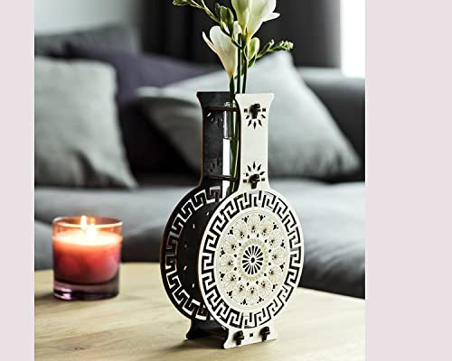 Wooden Vase, Table Decor, DIY Home Decor, Table Centerpiece Handmade, Test Tube Vase For A Single Flower