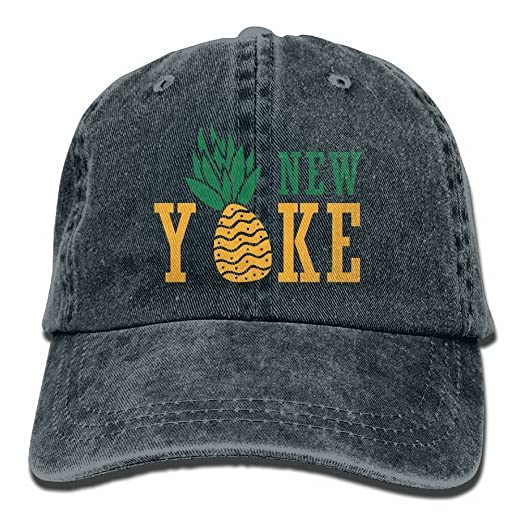 03a2056f7c8 Image Unavailable. Image not available for. Color  Ufcell Pineapple New  York Caps Unisex Adult Adjustable Baseball ...