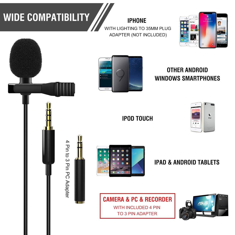 moko professional mini lapel mic omnidirectional condenser. Black Bedroom Furniture Sets. Home Design Ideas