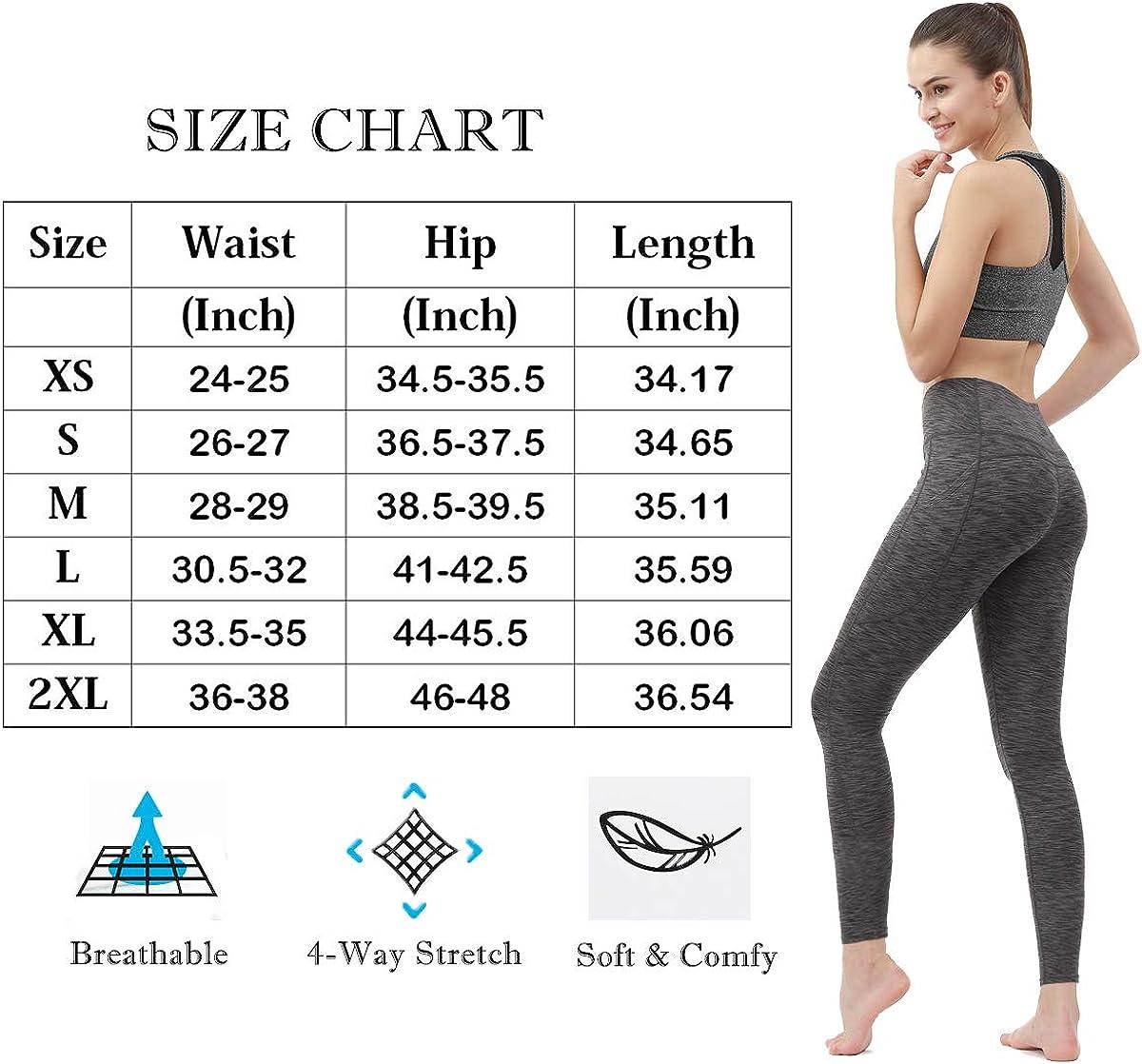 Yttrtitan Women High Waist Yoga Pants with Pocket Tummy Control Workout Leggings