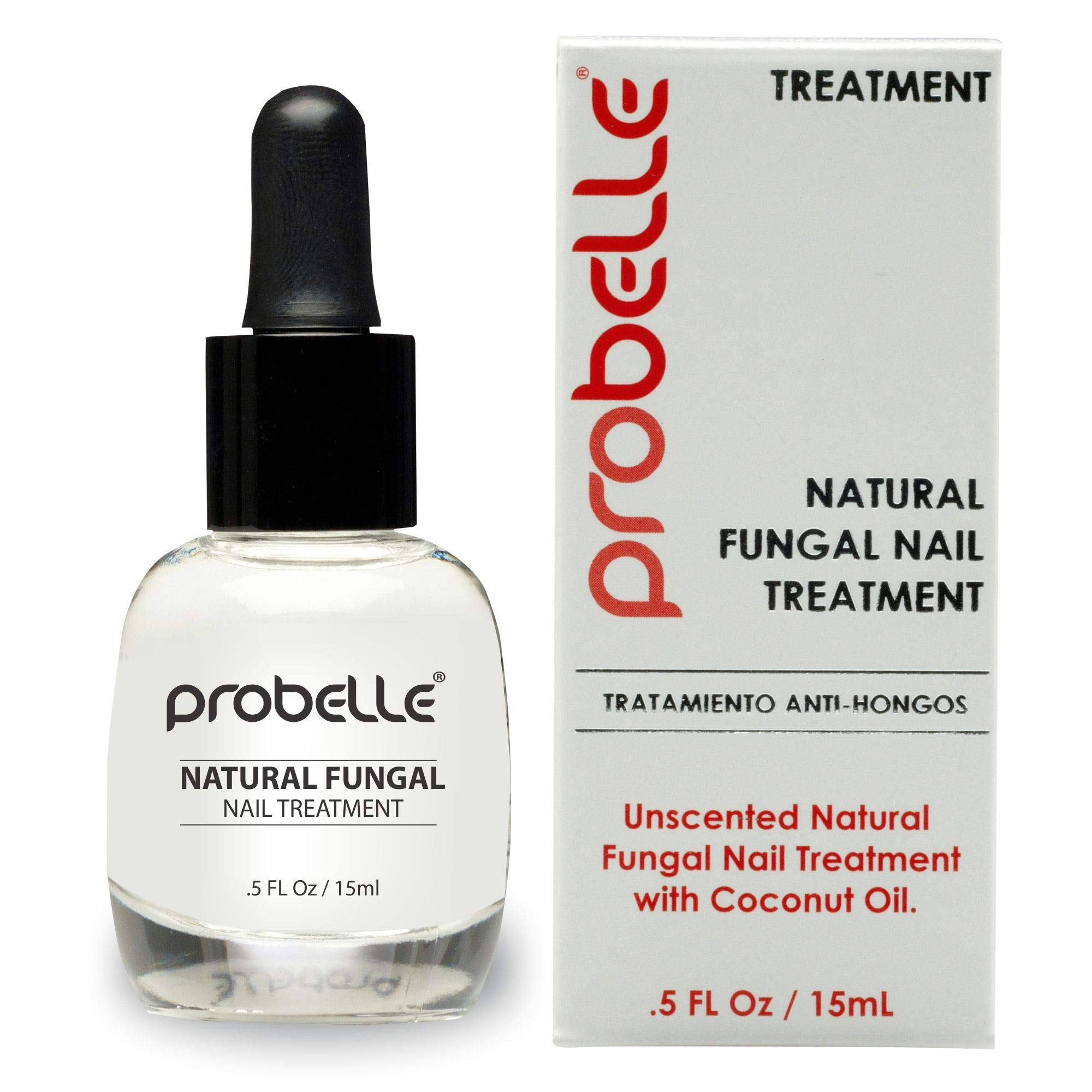 Probelle Natural Fungal Nail Treatment, Anti Fungal Nail Treatment, Nail Color Restoration, Clear.5 oz/ 15 ml (Patented Formula) by Probelle