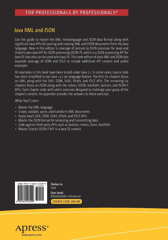 Java Xml And Json Document Processing For Java Se Amazon De Jeff