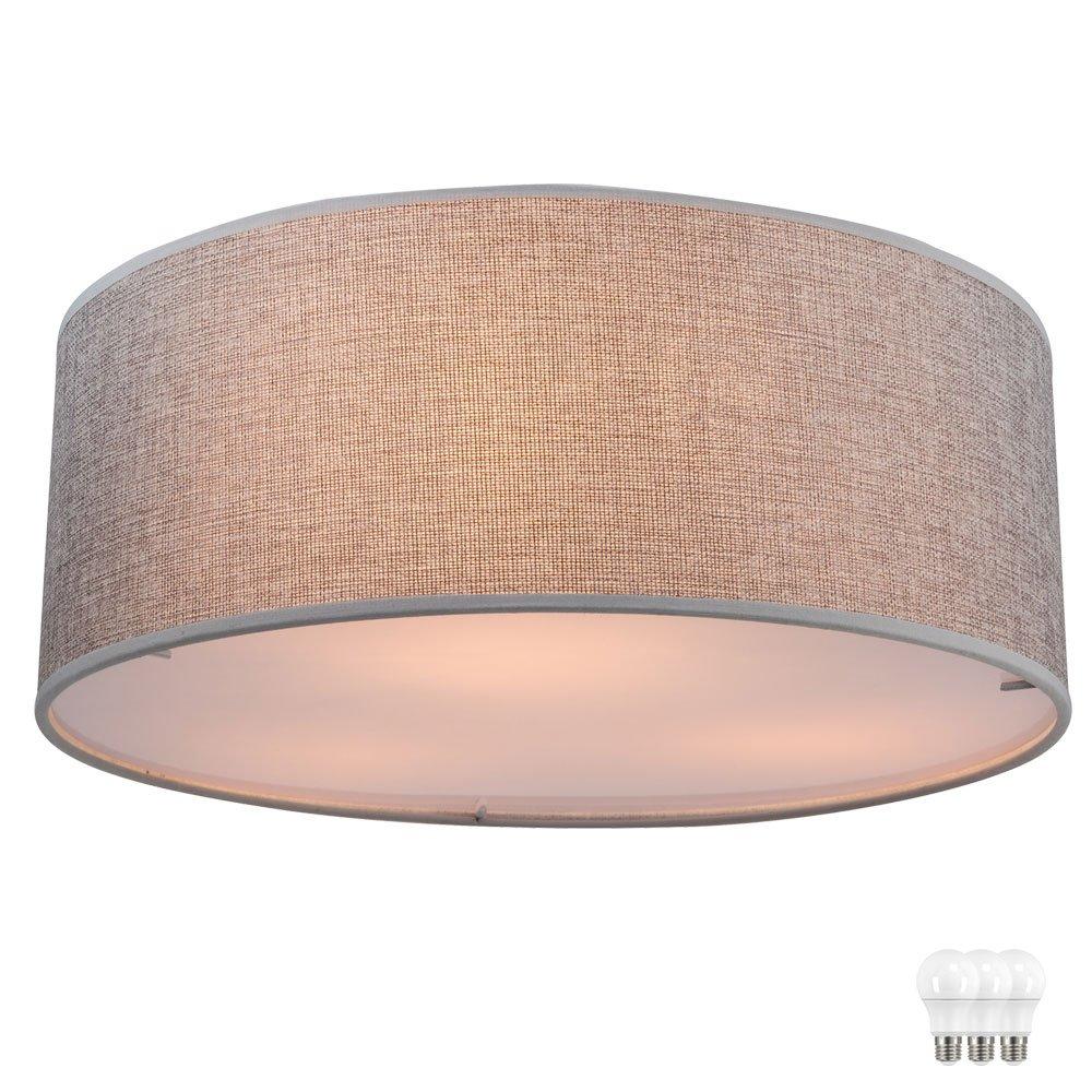 19,5 Watt Design Decken Leuchte LED Stoff Lampe Wohn Schlaf Zimmer Beleuchtung
