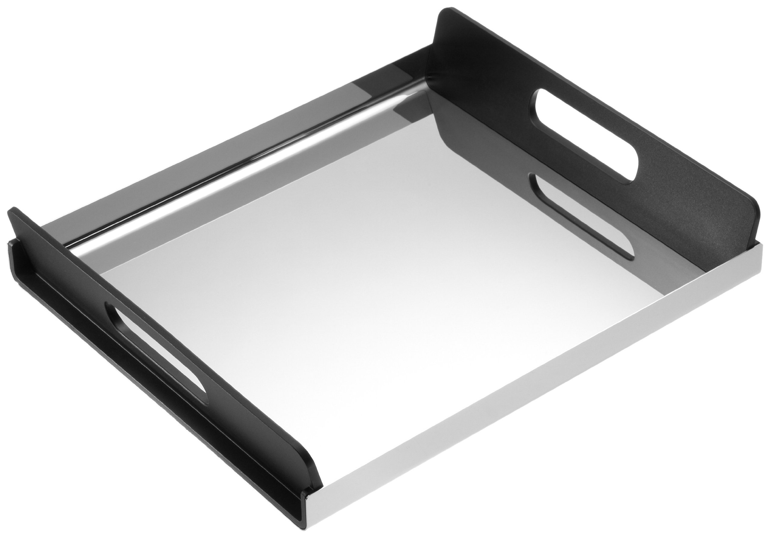 Alessi GIA01/35''Vassily'' Tray With Handles Black