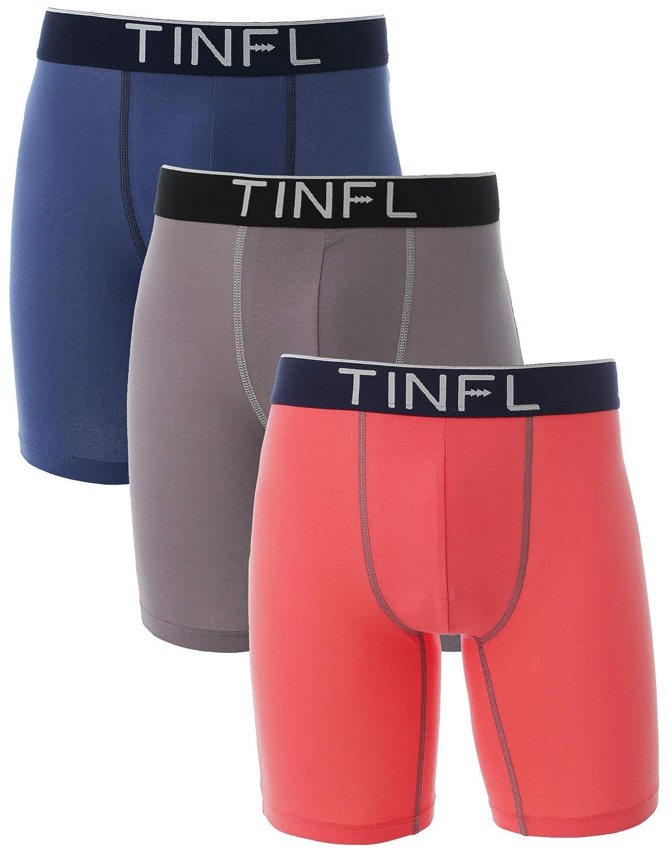 TINFL 8-16 Years Big Boys 100/% Cotton Long-Leg Boxer Briefs 3 Pack Wide Band Underwear Set TINFL-HD