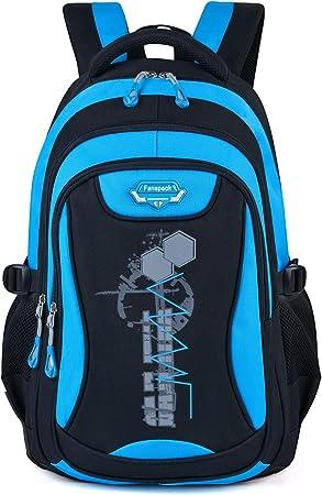 Mochilas Escolares,Fanspack Mochilas Escolares Juveniles Bolso Mochila Deporte Mochila Colegio Backpack Grande Mochila Infantil Juveniles (Azul Oscuro): Amazon.es: Equipaje