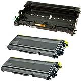 Compatible Brother DR2100 Tambor & 2x TN2120 Tóner para Brother DCP-7030 DCP-7040 DCP-7045N HL-2140 HL-2150 HL-2150N HL-2170 HL-2170W MFC-7320 MFC-7340 MFC-7345DN MFC-7440N MFC-7840W - Negro, Alta Capacidad