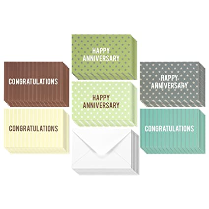 Amazon 36 pack anniversary cards congratulations cards 36 pack anniversary cards congratulations cards blank greeting cards greeting cards bulk assorted m4hsunfo