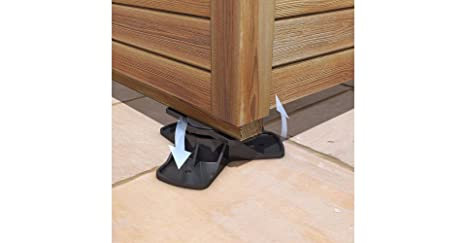 Shedmate Patas de nivelación ajustables para cobertizos, terrazas o casas prefabricadas