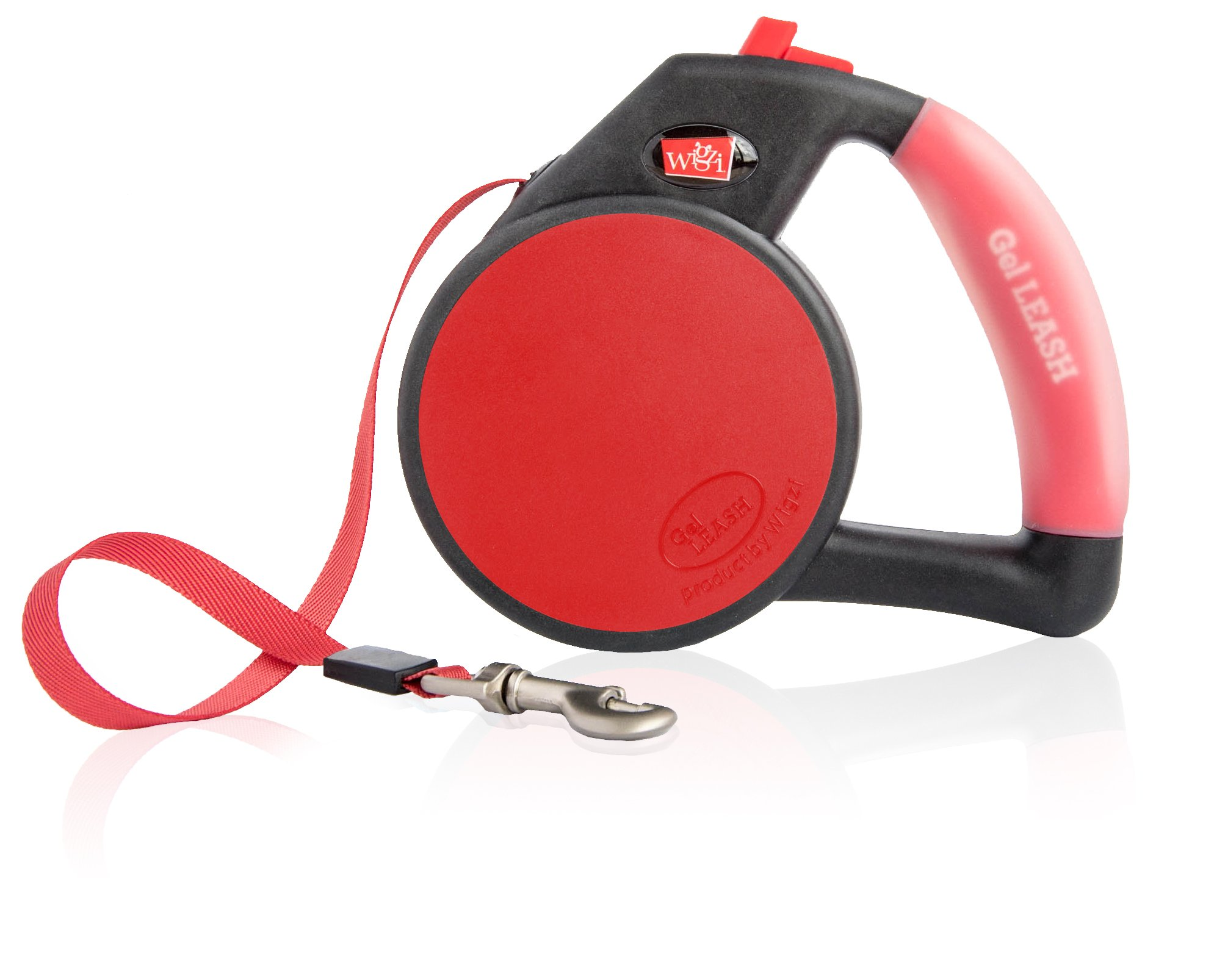 Dog Leash - Retractable Gel Pet Leash - World's Most Comfortable Handle - Red Small