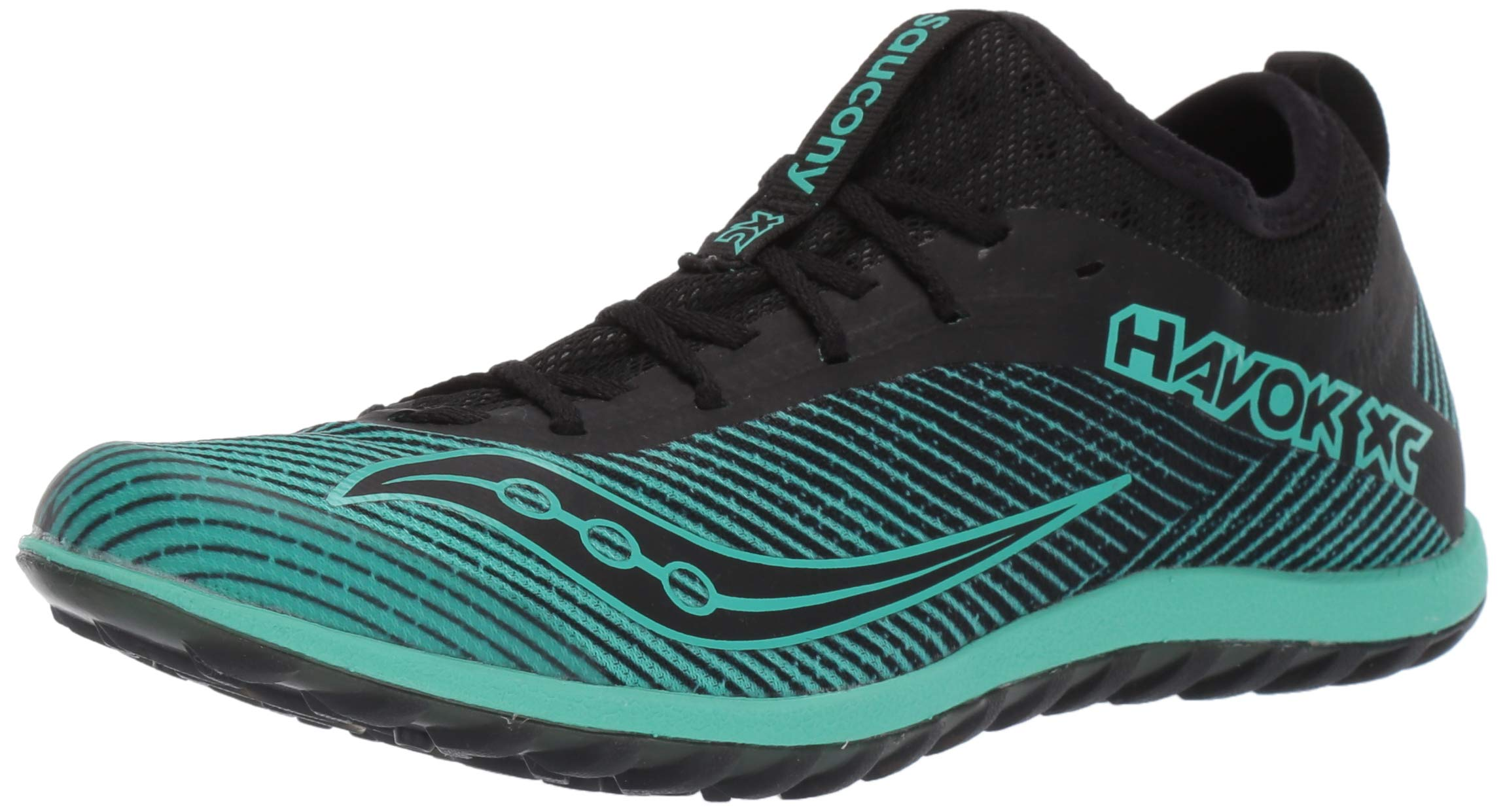 Saucony Women's Havok XC2 Flat Track and Field Shoe, Black/Green, 5.5 Medium US by Saucony