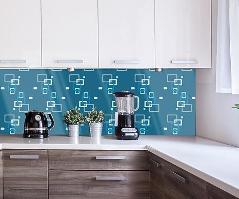 Retrocucina muro retro contenitore modello blu scuro design m0104