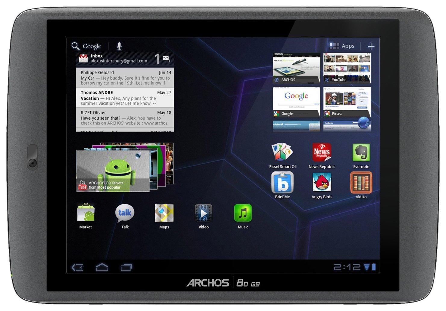 Archos 80 g9 turbo - Tablet de 8 pulgadas (Android 4.0, 250 GB, wifi, 1.5 GHz), color negro: Amazon.es: Informática