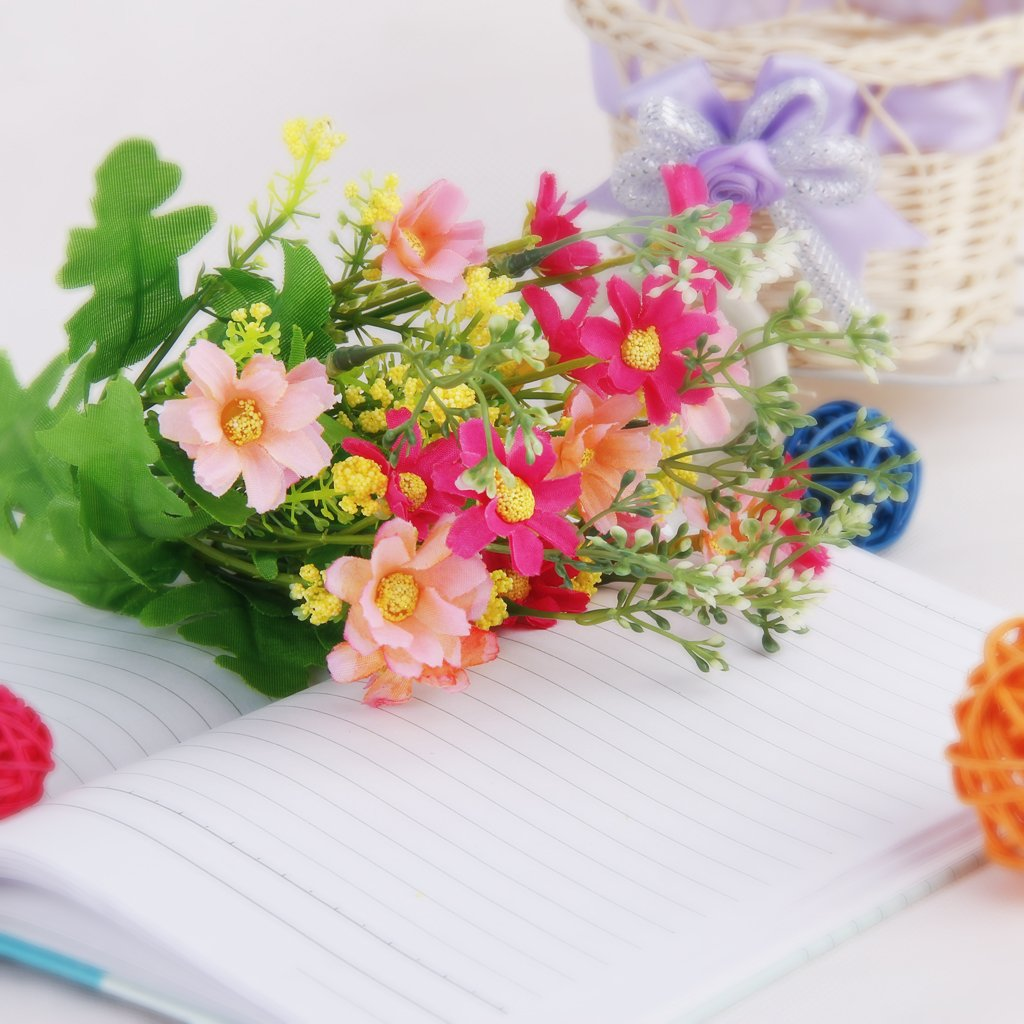 Buy 1 bunch cineraria artificial flower bouquet home office decor buy 1 bunch cineraria artificial flower bouquet home office decor rose red and pink by generic online at low prices in india amazon izmirmasajfo