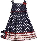 Bonnie Jean Girls White Flag 4th of July Dress