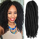 6 Packs 16Inch Cuban Twist Braiding Hair Marley Hair For Twist Marley Hair Crochet Braids 100% Kanekalon Synthetic Fiber Afro