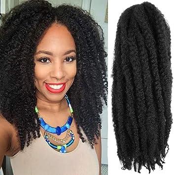Amazon Com 6 Packs 16inch Cuban Twist Braiding Hair Marley Hair For Twist Marley Hair Crochet Braids 100 Kanekalon Synthetic Fiber Afro Kinky Hair Extensions 16inch 1 Beauty