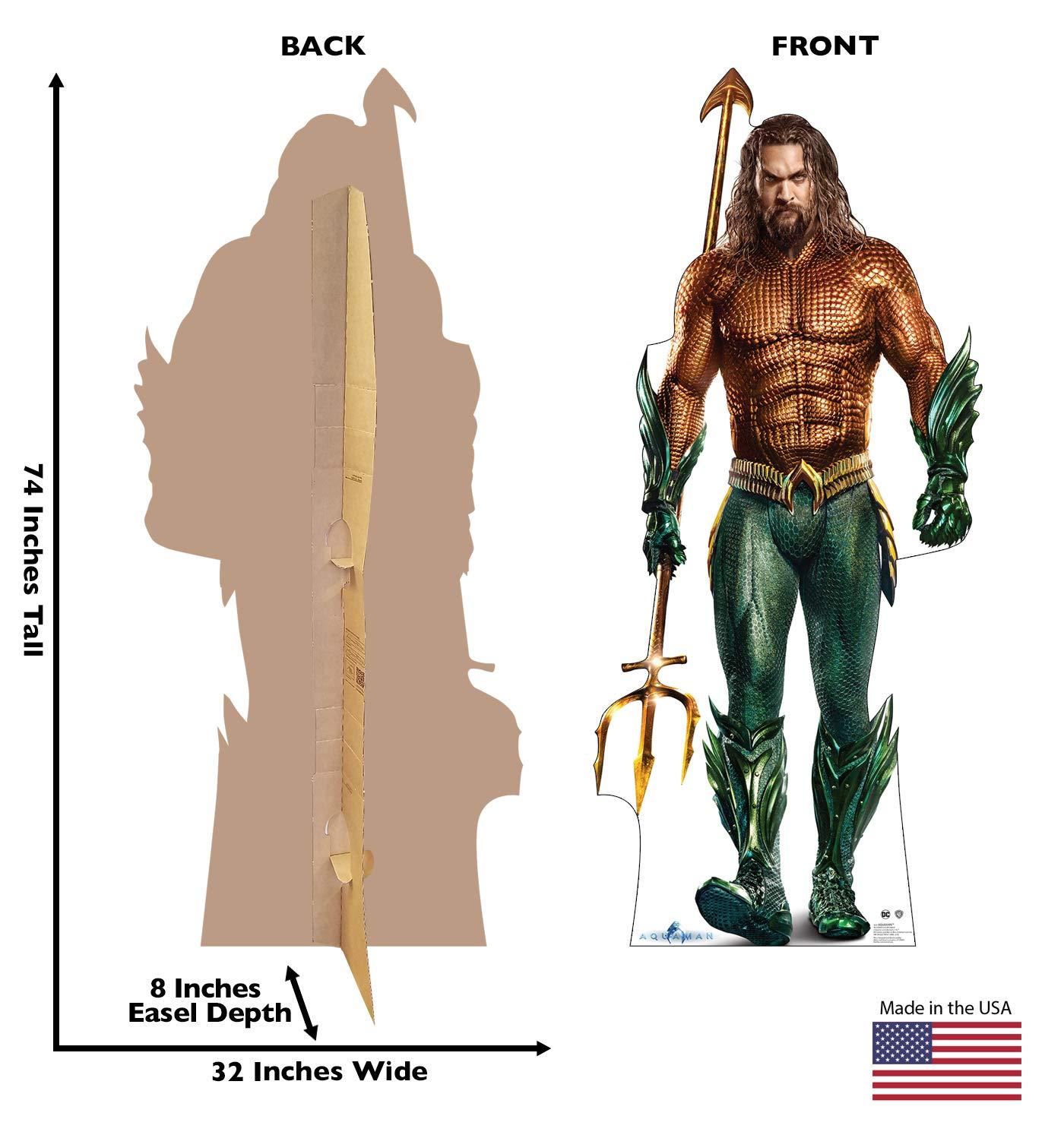 Advanced Graphics Aquaman Life Size Cardboard Cutout Standup - Aquaman (Warner Bros 2018 Film) by Advanced Graphics (Image #2)