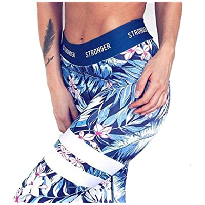 ANDYOU Womens Camo Yoga Classic Wild Skinny Capri Leggings Activewear