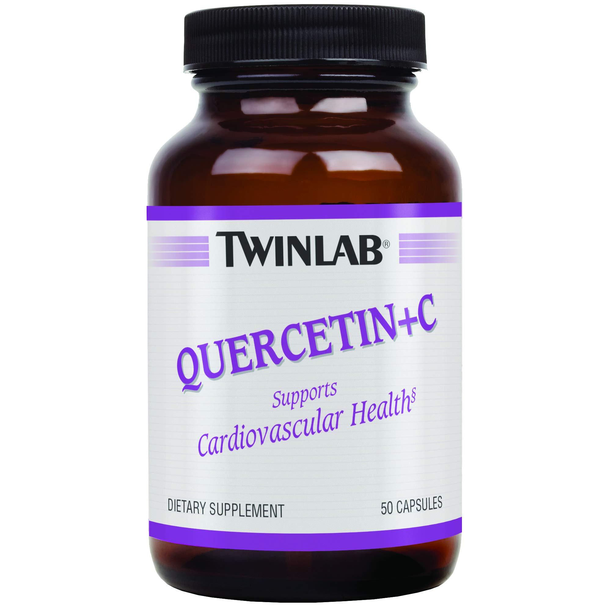 TwinLab Quercetin + C, with Corn-Free Vitamin C, Capsules, 50 capsules