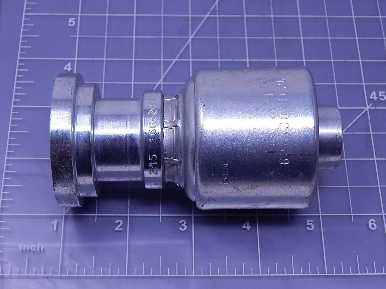Gates G25300-1620 16G-20FL Hydraulic Hose Fitting T107129