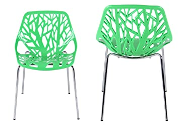 Creation Yusheng Plastic Modern Accent Dining Chairs Tree Chair Birds Nest  Dining Side Stacking Chairs Amazon com   Creation Yusheng Plastic Modern Accent Dining Chairs  . Green Plastic Stack Chairs. Home Design Ideas