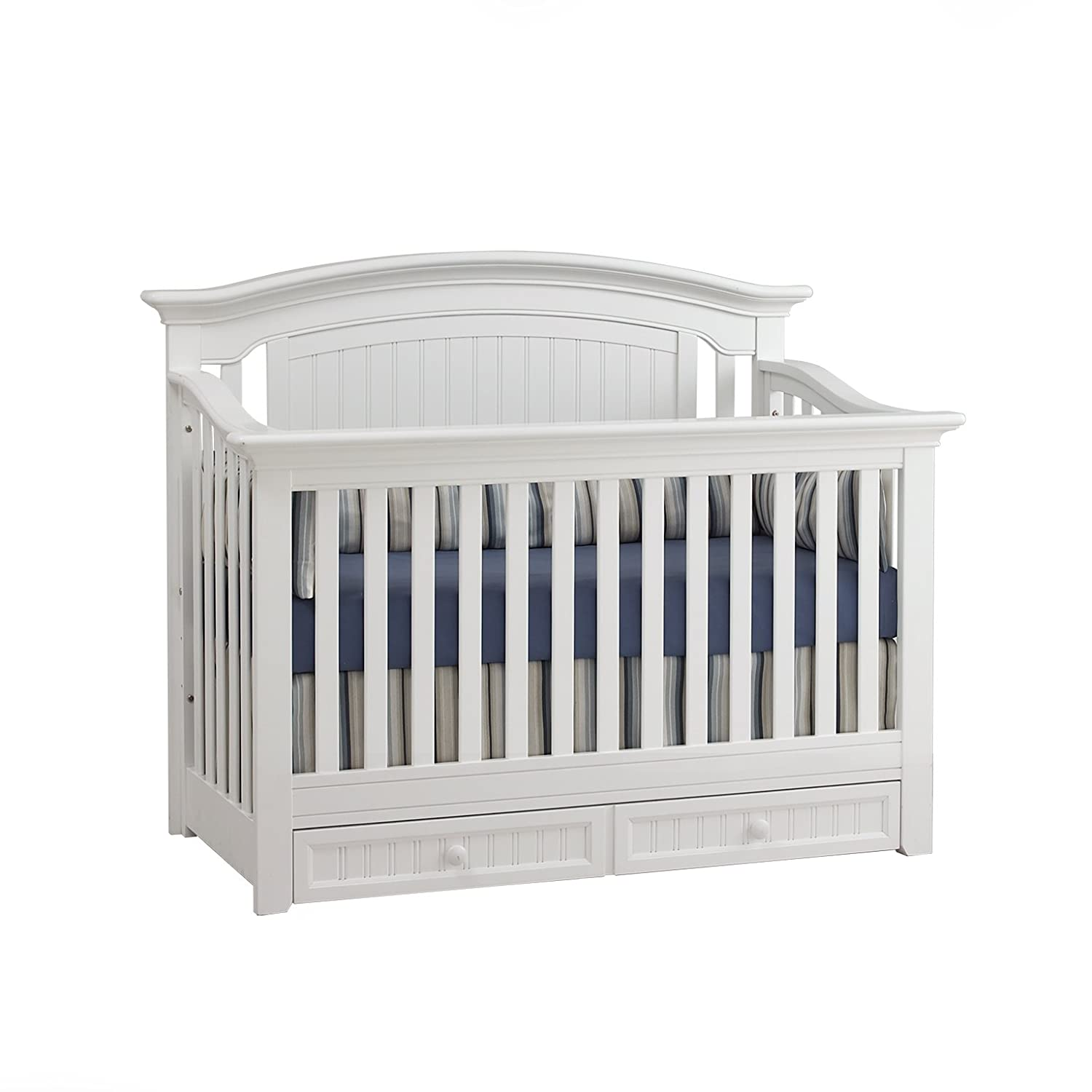 Amazon.com : Suite Bebe Winchester 4-in-1 Convertible Crib White : Baby