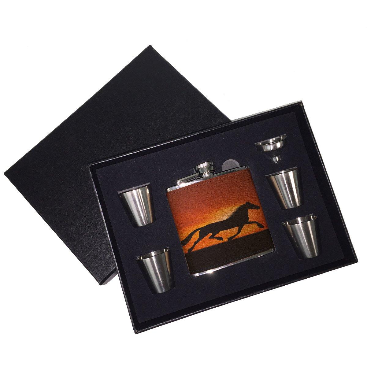 【 開梱 設置?無料 】 Sunset horse B01J18CQ3K horse Sunset – レザーフラスコギフトセット B01J18CQ3K, カルビハウスのキムチ屋さん:7f58fd05 --- importexportdigital.com