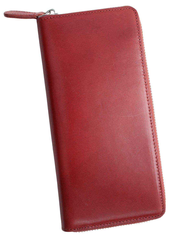 Dom Teporna Italy 長財布 本革 イタリアンレザー ラウンドファスナーウォレット 大容量なのに薄型 大人の余裕と遊び心を演出 メンズ レディース ギフト 全6色 B07CZXWY96 レッド レッド